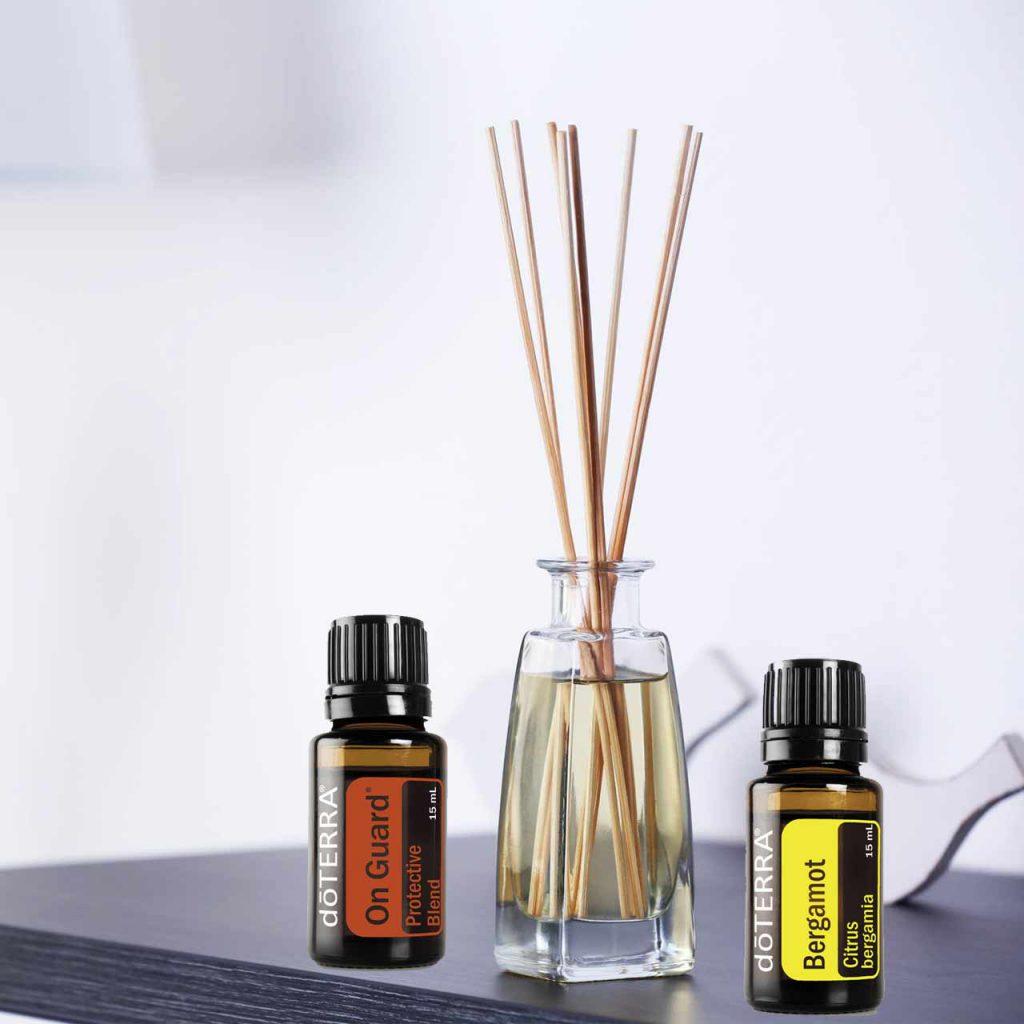Difusor de varillas con tus Aceites Esenciales dōTERRA® favoritos